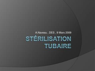 St rilisation tubaire