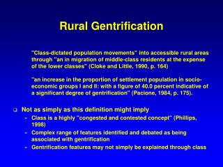 Rural Gentrification