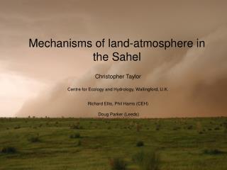 Mechanisms of land-atmosphere in the Sahel
