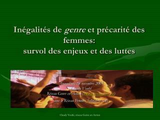 In galit s de genre et pr carit  des femmes:  survol des enjeux et des luttes
