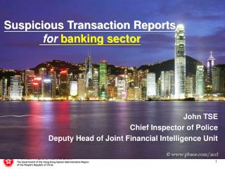 Suspicious Transaction Reports  for banking sector