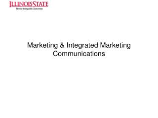 Marketing  Integrated Marketing Communications