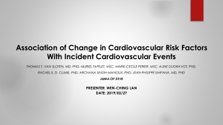 Post Myocardial Infarction Depression and Subsequent Cardiac Events