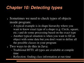 Chapter 10: Detecting types