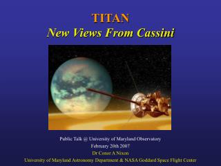 TITAN New Views From Cassini
