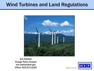 Eric Steltzer Energy Policy Analyst eric.steltzernh Office: 603-271-2155
