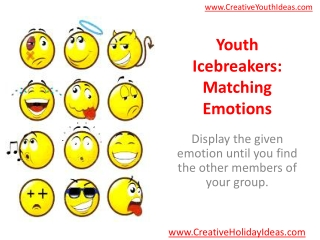 Youth Icebreakers: Matching Emotions