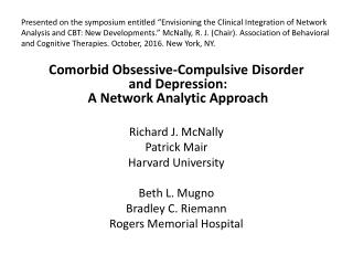 Obsessive Compulsive Disorder: