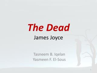 The Dead James Joyce