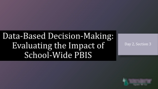 Evaluating the Impact of School-wide  Positive Behavior Support