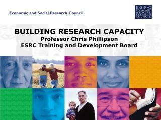 BUILDING RESEARCH CAPACITY Professor Chris Phillipson ESRC Training and Development Board
