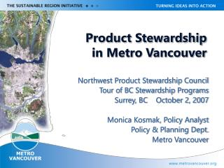 Product Stewardship  in Metro Vancouver