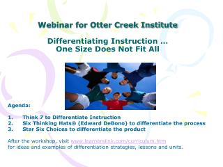 Webinar for Otter Creek Institute  Differentiating Instruction   One Size Does Not Fit All