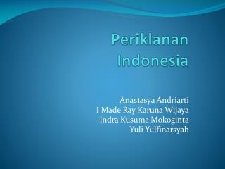 Periklanan Indonesia