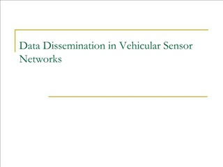 Data Dissemination in Vehicular Sensor Networks