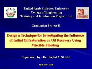 United Arab Emirates University Collage of Engineering Training and Graduation Project Unit