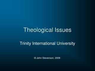 Theological Issues