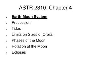 ASTR 2310: Chapter 4