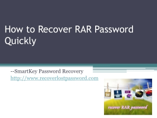 How to Recover RAR Password Quickly