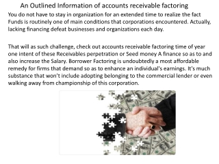 An Outlined Information of accounts receivable factoring