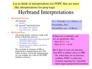 Herbrand Interpretations