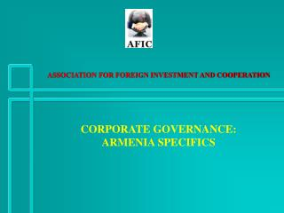 ASSOCIATION FOR FOREIGN INVESTMENT AND COOPERATION