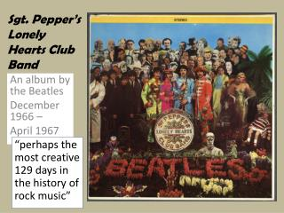 Sgt. Pepper s Lonely Hearts Club Band