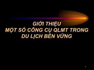 GII THIU MT S C NG C QLMT TRONG DU LCH BN VNG