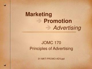 Marketing      Promotion       Advertising