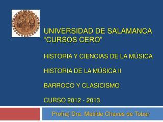 Universidad de salamanca  Cursos cero   Historia y Ciencias de la m sica  historia de la m sica ii  barroco y clasicismo