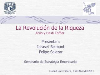 La Revoluci n de la Riqueza Alvin y Heidi Toffler