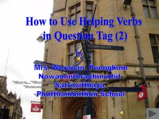 How to Use Helping Verbs  in Question Tag 2