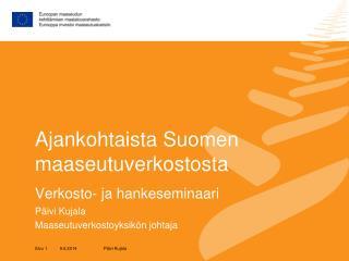 Ajankohtaista Suomen maaseutuverkostosta