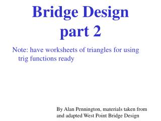 Bridge Design  part 2