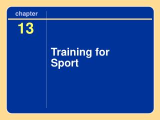 Training for Sport