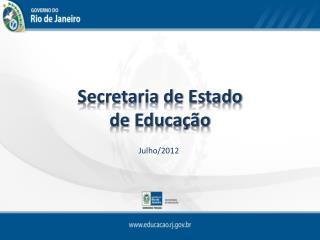 Secretaria de Estado  de Educa  o