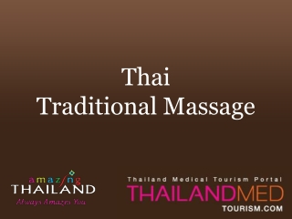 Thai Traditional Massage