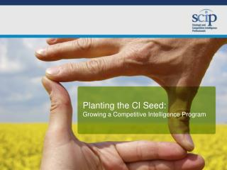 Planting the CI Seed: Growing a Competitive Intelligence Program
