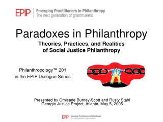 Paradoxes in Philanthropy Theories, Practices, and Realities  of Social Justice Philanthropy