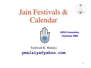 Jain Festivals  Calendar