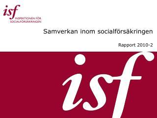 Samverkan inom socialf rs kringen  Rapport 2010-2
