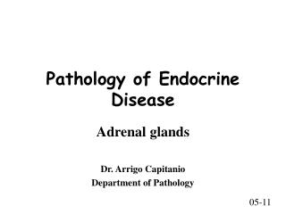 Pathology of Endocrine Disease