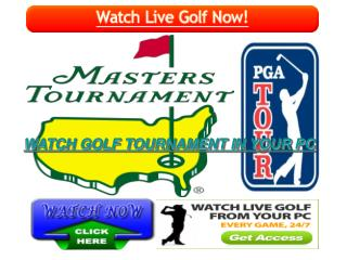 WATCH PGA Tour Masters Tournament Live Golf Streaming HD Onl