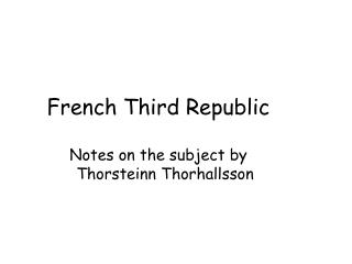 French Third Republic