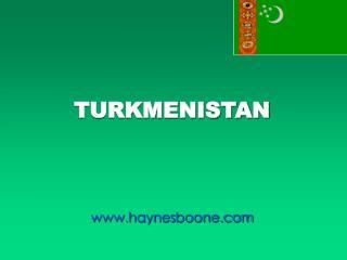 TURKMENISTAN    haynesboone