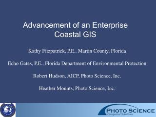 Advancement of an Enterprise Coastal GIS