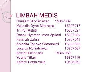 LIMBAH MEDIS