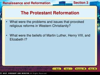 What were the problems and issues that provoked religious reforms in Western Christianity  What were the beliefs of Mart
