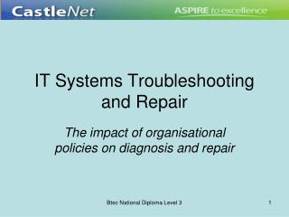 IT Systems Troubleshooting and Repair