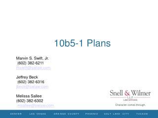 10b5-1 Plans